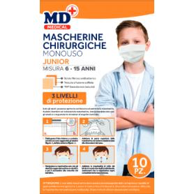 MASCHERINE CHIRURGHICHE MONOUSO JUNIOR 10 PZ